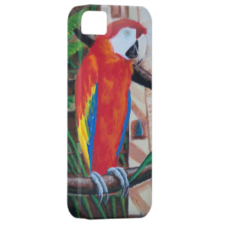 Scarlet Macaw Exotic Jungle Bird iPhone Case Shell iPhone 5 Covers