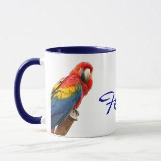 Scarlet Macaw Florida Ceramic Mug