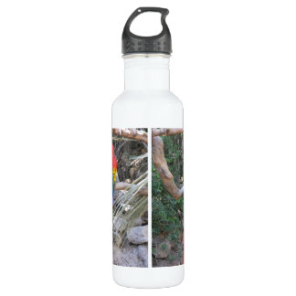 Scarlet Macaw - From the back Stainless Steel Water Bottle