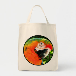 Scarlet Macaw Grocery Bag