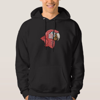 Scarlet Macaw Hooded Pullover