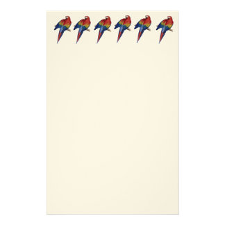Scarlet Macaw Illustration Personalized Stationery