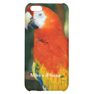 Scarlet Macaw Case For iPhone 5C