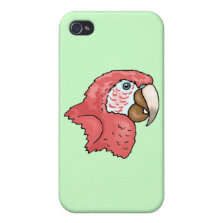Scarlet Macaw iPhone 4 Cover