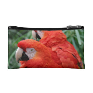 Scarlet Macaw Makeup Bag