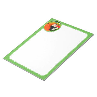 Scarlet Macaw Notepad - Green
