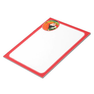 Scarlet Macaw Notepad - Red