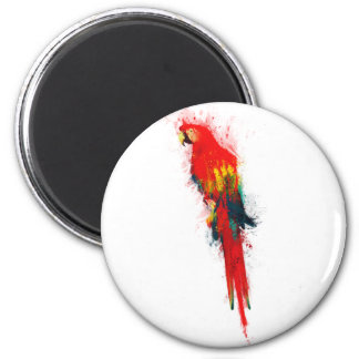 Scarlet Macaw Painted Magnet
