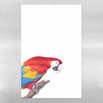 Scarlet Macaw Parrot Dry Erase Magnetic Sheet