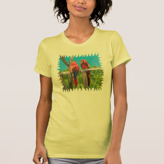 Scarlet Macaw Parrots Perching Tee Shirt