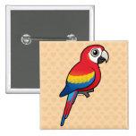 Scarlet Macaw Pinback Button