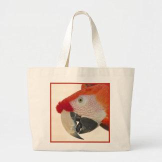 Scarlet Macaw Portrait Large Tote Bag