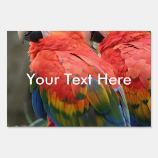 Scarlet Macaw Sign