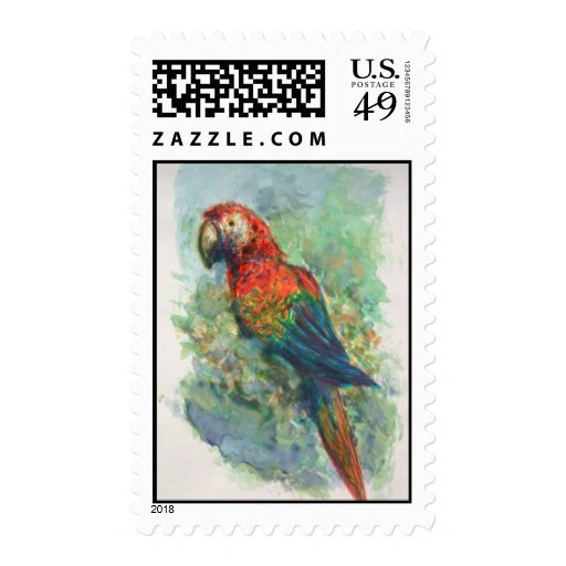 Scarlet Macaw Stamp