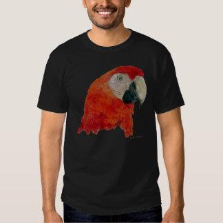 Scarlet Macaw T-shirt (dark design)