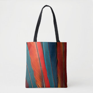 Scarlet Macaw Tail Feathers Tote Bag
