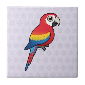 Scarlet Macaw Tile