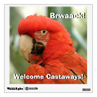 Scarlet Macaw Wall Sticker