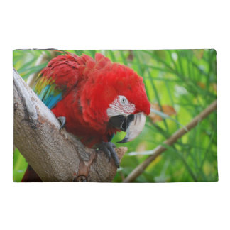 Scarlet Macaw with a Sharp Beak Travel Accessory Bags
