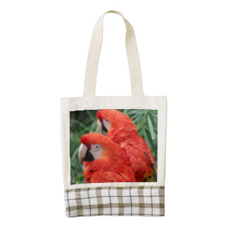 Scarlet Macaw Zazzle HEART Tote Bag