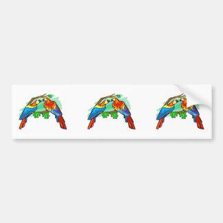 Scarlet Macaws Bumper Sticker