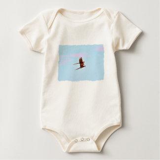Scarlet Mackaw Couple Flying Baby Bodysuit