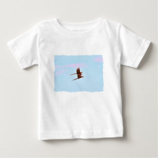 Scarlet Mackaw Couple Flying Baby T-Shirt