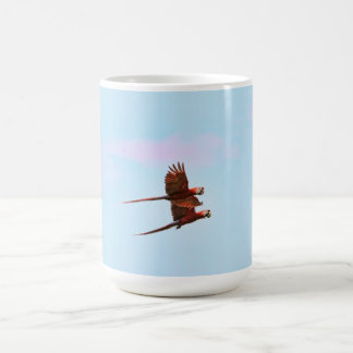 Scarlet Mackaw Couple Flying Coffee Mug