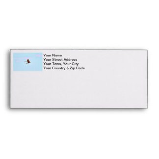 Scarlet Mackaw Couple Flying Envelope