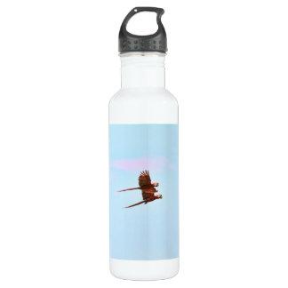 Scarlet Mackaw Couple Flying Stainless Steel Water Bottle