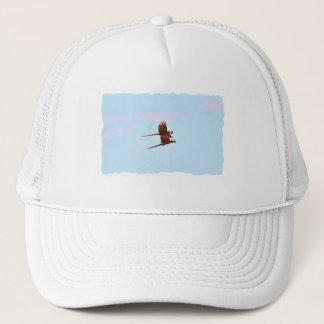 Scarlet Mackaw Couple Flying Trucker Hat