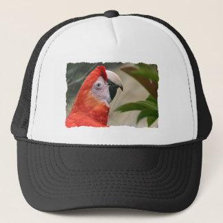 Scarlet Mackaw Photo Trucker Hat