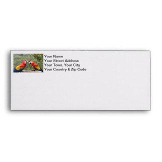 Scarlet Mackaws Envelope