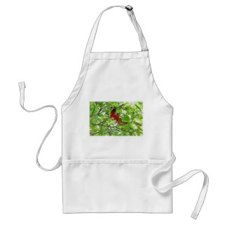 Scarlet Mackaws Picture Adult Apron
