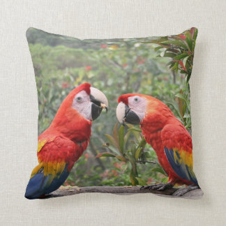 Scarlet Mackaws Pillows