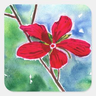 Scarlet Mallow Sticker