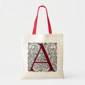 Scarlet Monogram 'A' With Swirls - Bag