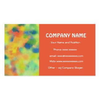 Scarlet, Orange, Green, Royal Blue Business Card