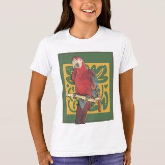 Scarlet Parrot Art T-Shirt