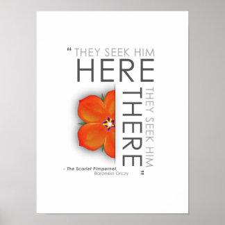 Scarlet Pimpernel Quote - Classic Literature Poster