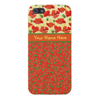 Scarlet Poppies, Buds: iPhone 5/5s Savvy Case