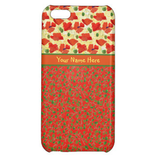 Scarlet Poppies, Buds: iPhone 5c Savvy Case Cover For iPhone 5C