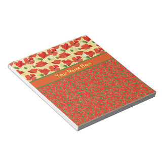 Scarlet Poppies, Buds: Notepad or Jotter