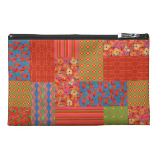Scarlet Poppies Faux-patchwork Accessories Bag
