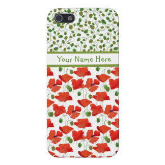 Scarlet Poppies Mix'n'Match iPhone 5/5s Savvy Case
