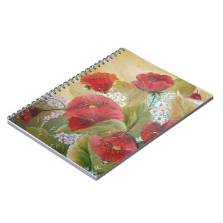 SCARLET POPPIES SPIRAL NOTEBOOKS