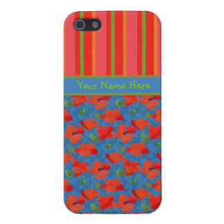 Scarlet Poppies, Stripes iPhone 5/5s Savvy Case
