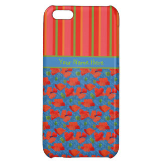 Scarlet Poppies, Stripes iPhone 5c Savvy Case iPhone 5C Cover