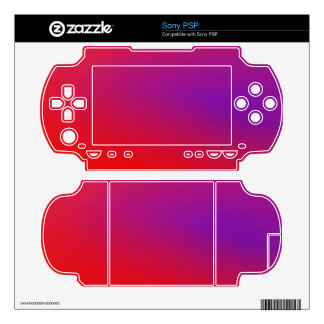 Scarlet Purple Yellow Skins For Sony PSP