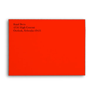 Scarlet Red A7 5x7 Custom Pre-addressed Envelopes